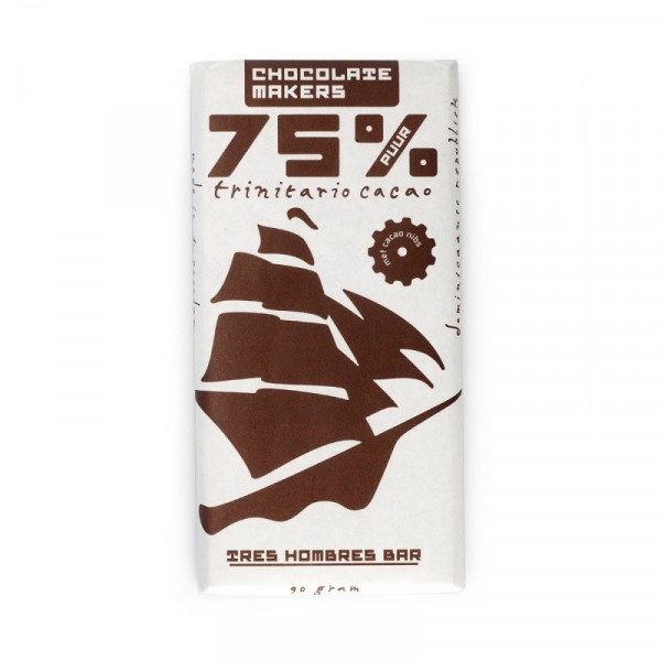 TRES HOMBRES Chocolate Bar 75%