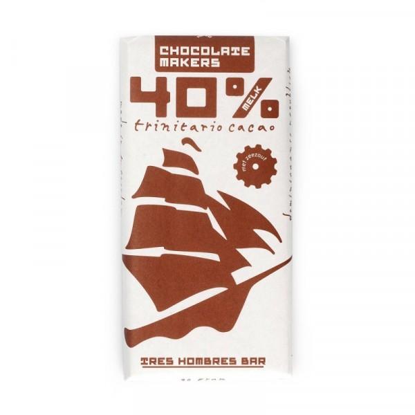 TRES HOMBRES Chocolate Bar 40%