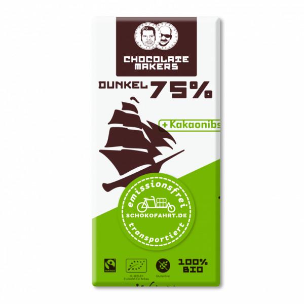 TRES HOMBRES Chocolate Bar 75%